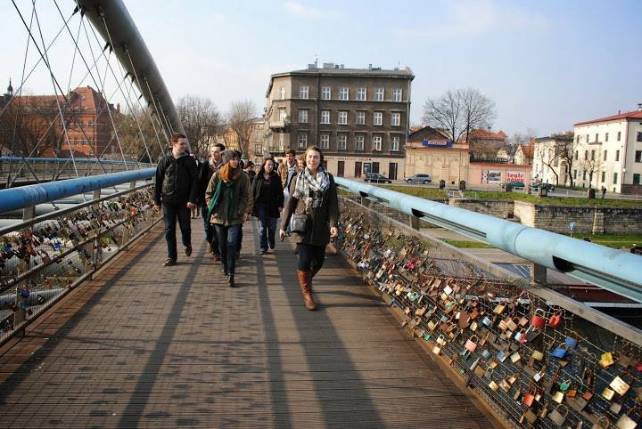 Love Lock Bridge, Krakow, Poland