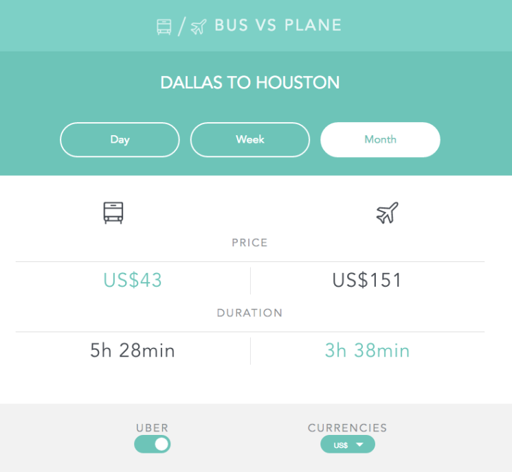 Compare-Bus-&-flights-from-Dallas-to-Houston